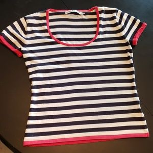 Tommy Hilfiger womens short sleeve knit sweater